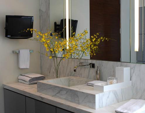 Marmor Waschtisch mit Waschbecken