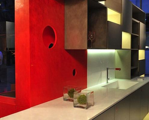 Moderne Silestone Stein Küche