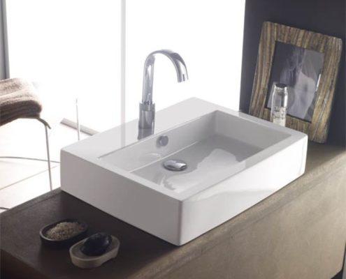 Silestone Waschtisch mit Waschbecken