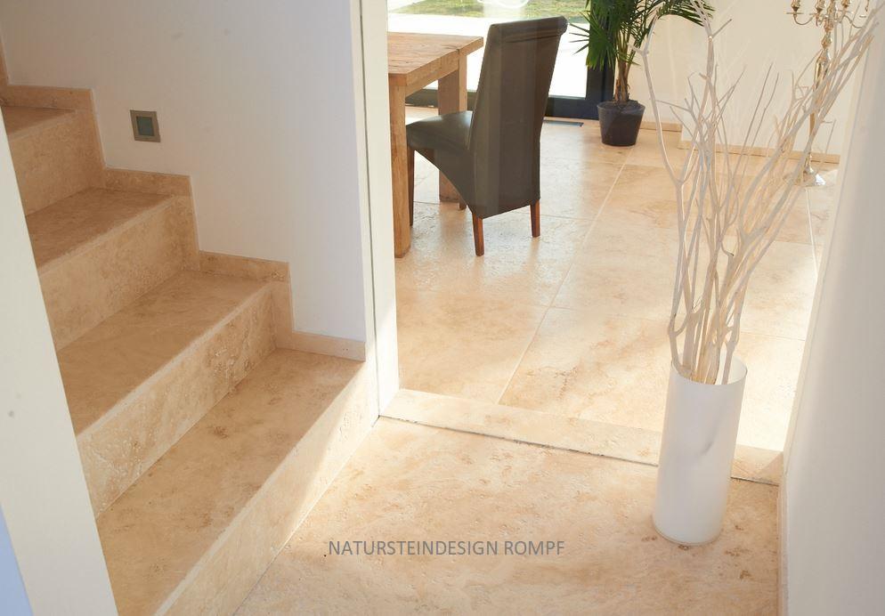 Granit treppen mit sch nen natursteinen natursteindesign rompf - Treppen fliesen granit ...
