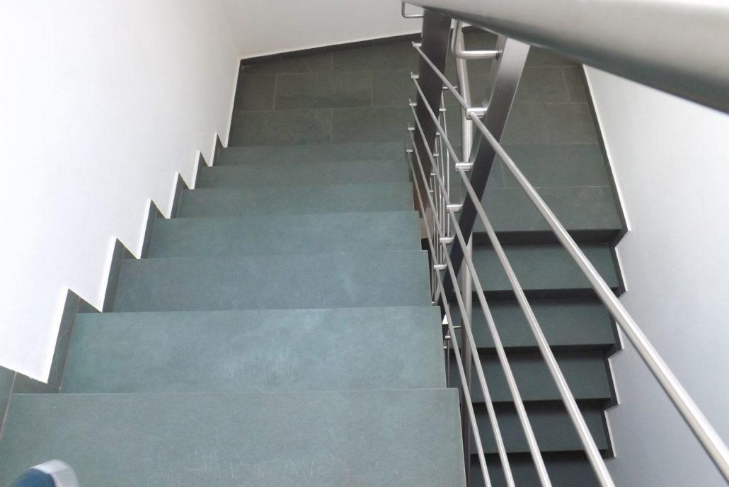 Schiefer Treppen
