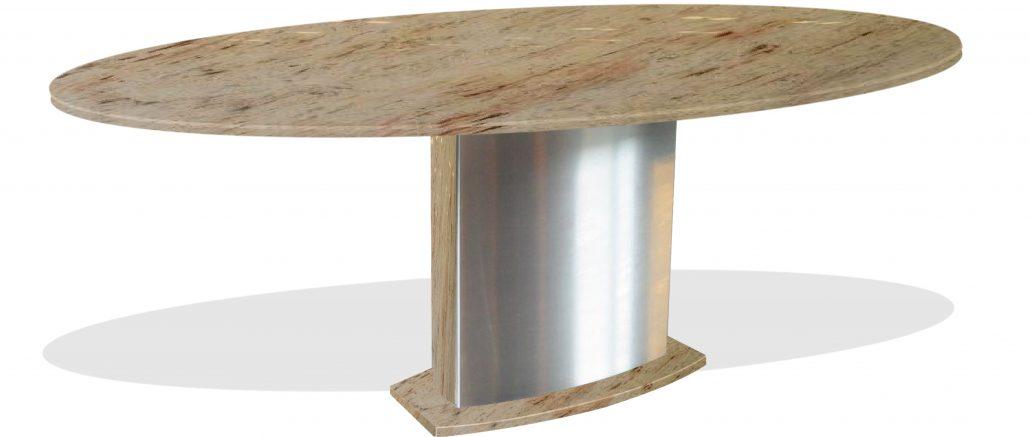 tisch nach mass von collection rompf in eleganter ovaler form. Black Bedroom Furniture Sets. Home Design Ideas