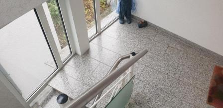 granit treppe. kashmir white