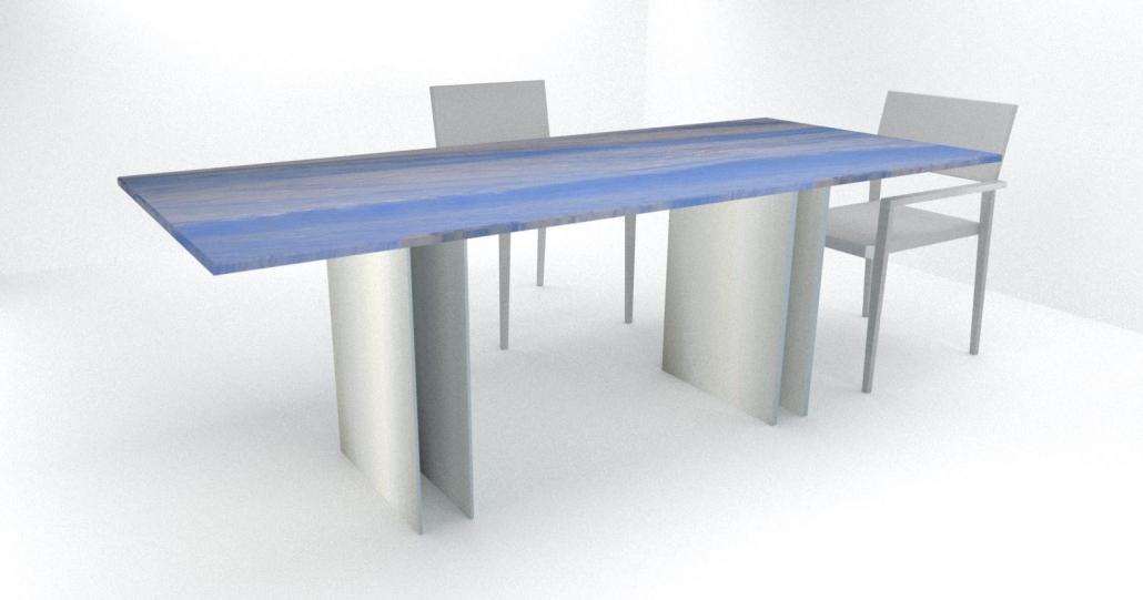 esstisch modern - Azul do Macaubas