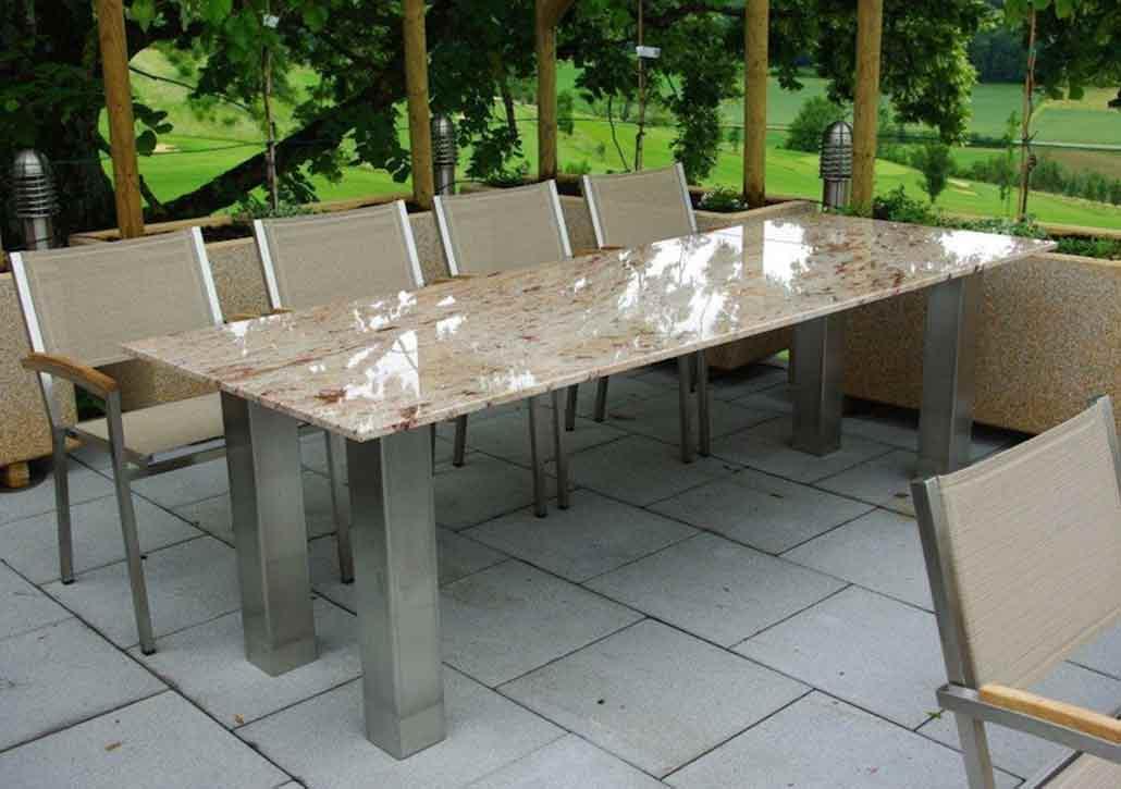 Gartentische mit Granit