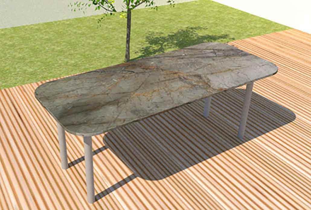 Granit Gartentisch Tischguide