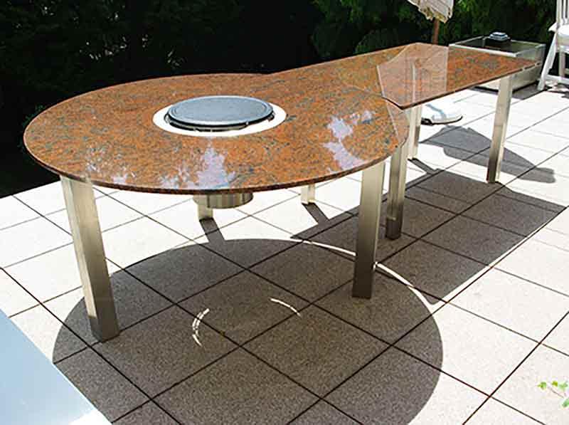 Granit Gartentische Grilltisch