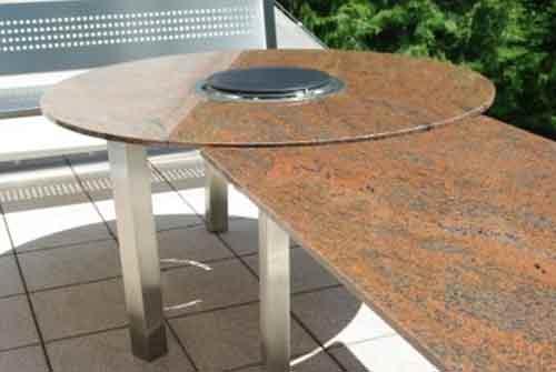 Granit Gartentische Grilltische