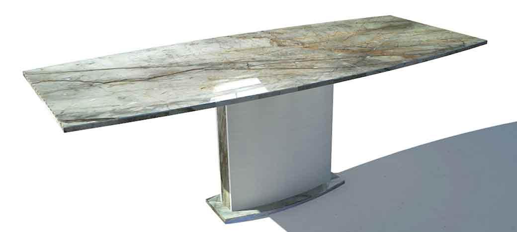 Esstisch modern mit Steinplatte