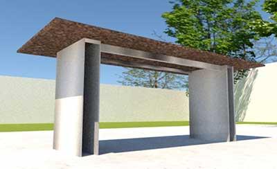Gartentisch Granit Design