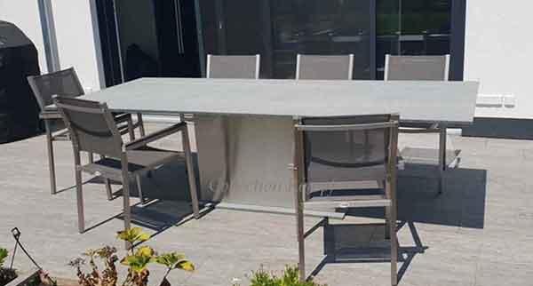 Gartentisch Granit mit Edelstahl