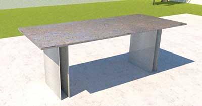 Gartentisch mit Naturstein