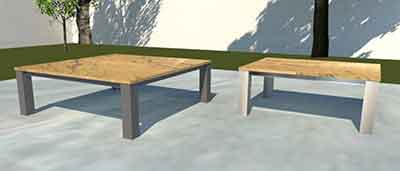 Granit Garten Loungetische