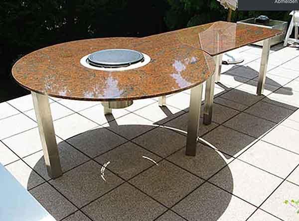 Granit Gartentisch mit Grill