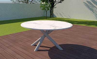 Granit Gartentisch rund -