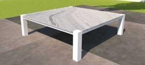 Loungetisch mit Steinplatte