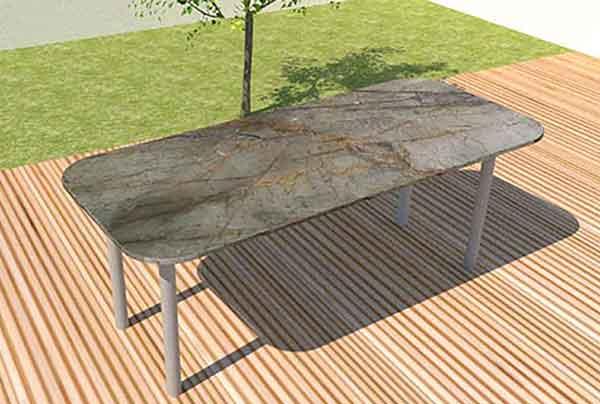 Moderne Granit Gartentische