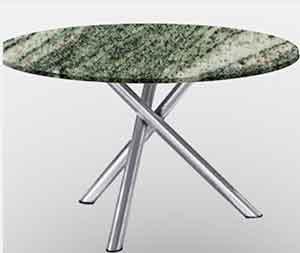 Runde Edelstahl Granit Gartentische